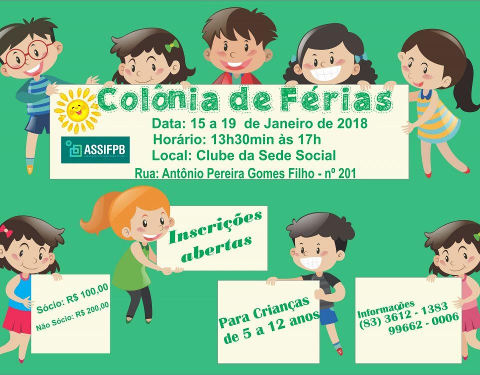 Colônia de Ferias 2018.1